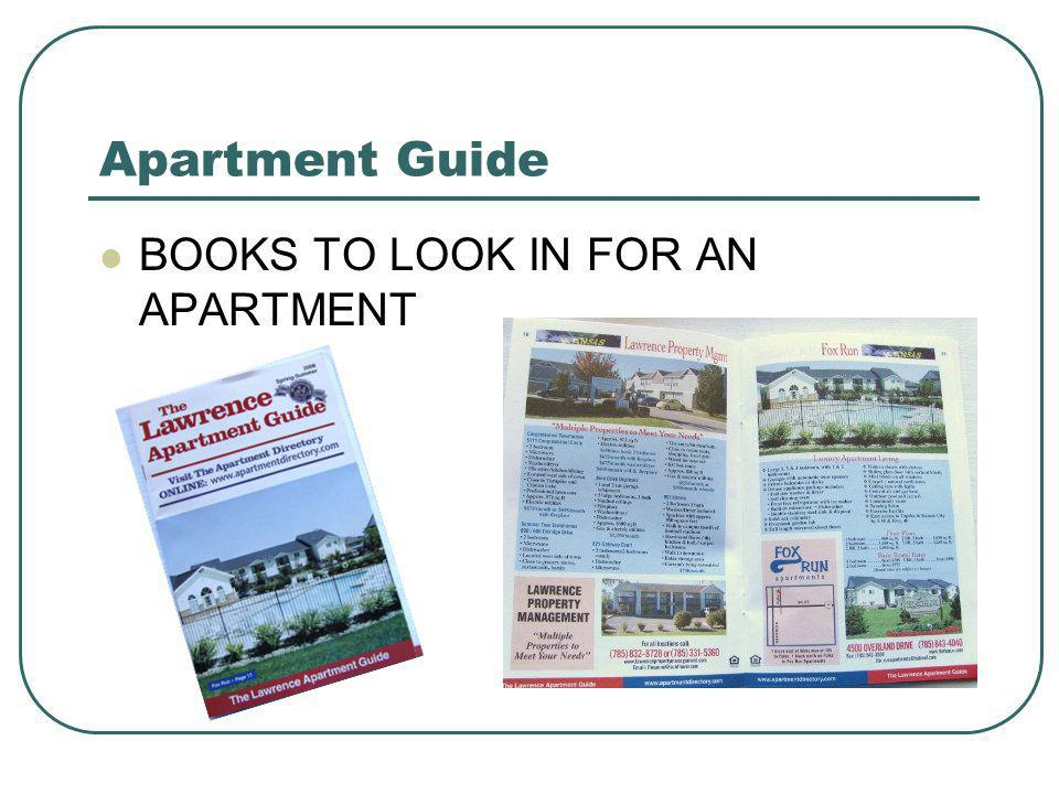 Apartment Guide BOOKS TO LOOK IN FOR AN APARTMENT