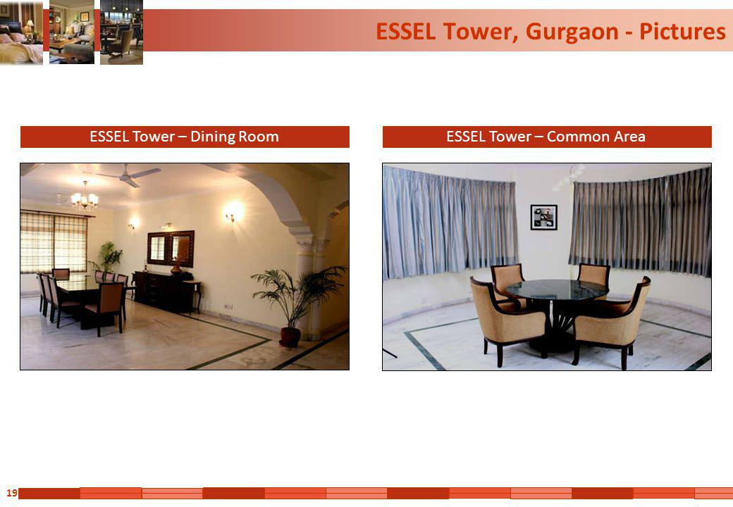 19 ESSEL Tower, Gurgaon - Pictures ESSEL Tower – Dining RoomESSEL Tower – Common Area