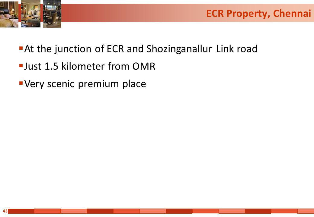 43 ECR Property, Chennai At the junction of ECR and Shozinganallur Link road Just 1.5 kilometer from OMR Very scenic premium place
