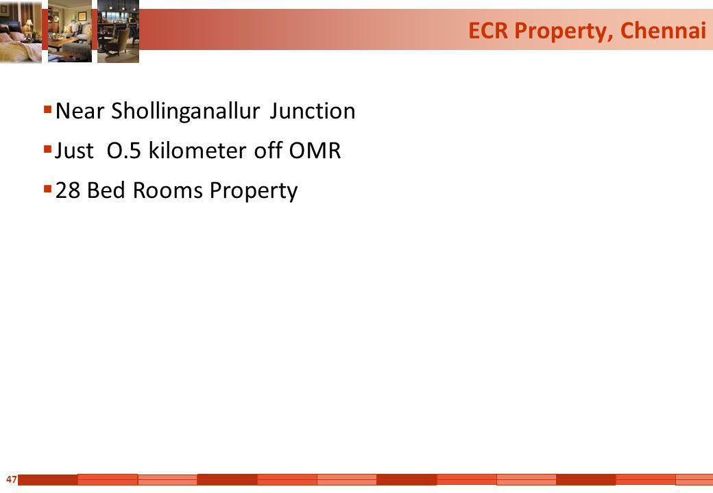 47 ECR Property, Chennai Near Shollinganallur Junction Just O.5 kilometer off OMR 28 Bed Rooms Property