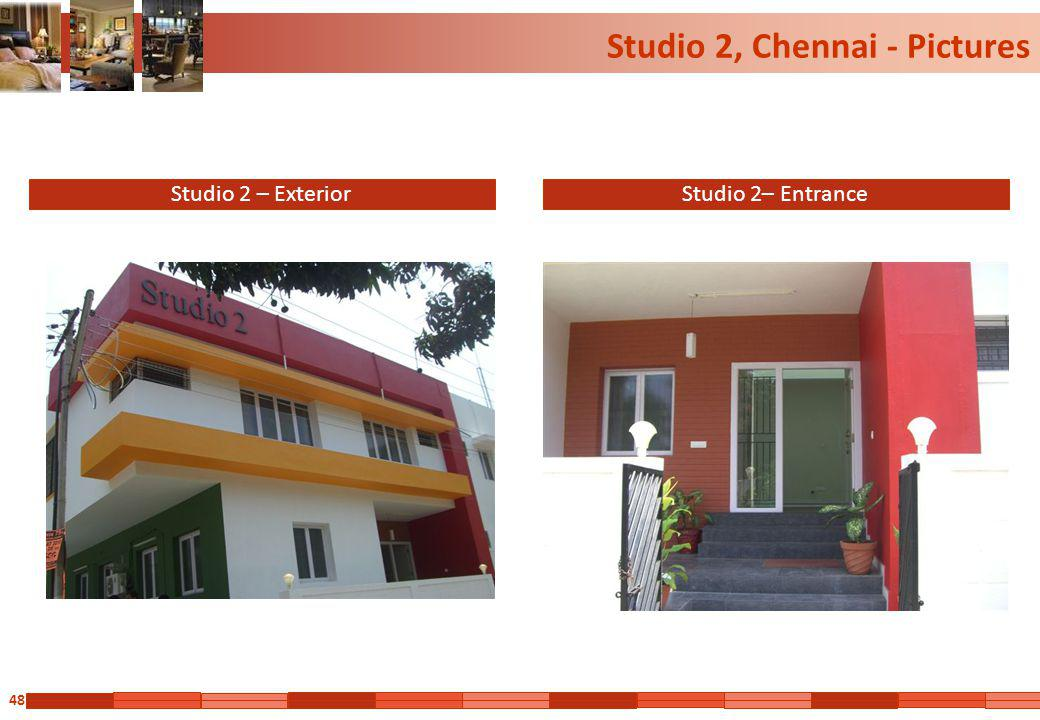48 Studio 2, Chennai - Pictures Studio 2 – ExteriorStudio 2– Entrance