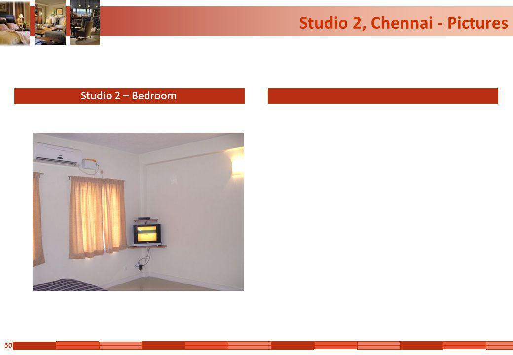 50 Studio 2, Chennai - Pictures Studio 2 – Bedroom
