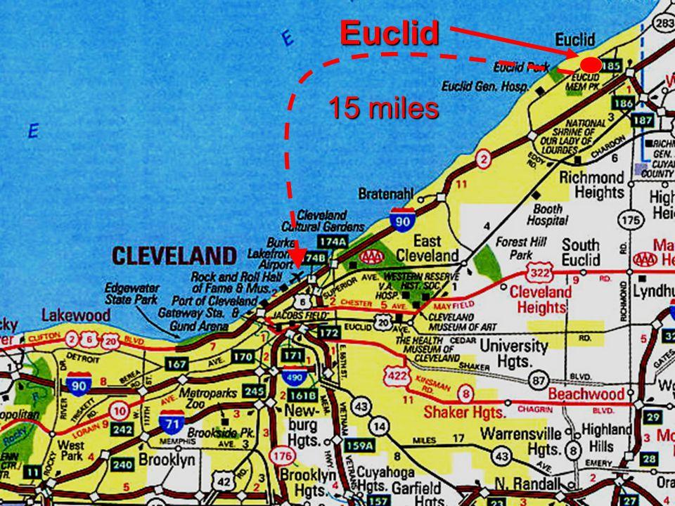 3 Euclid 15 miles