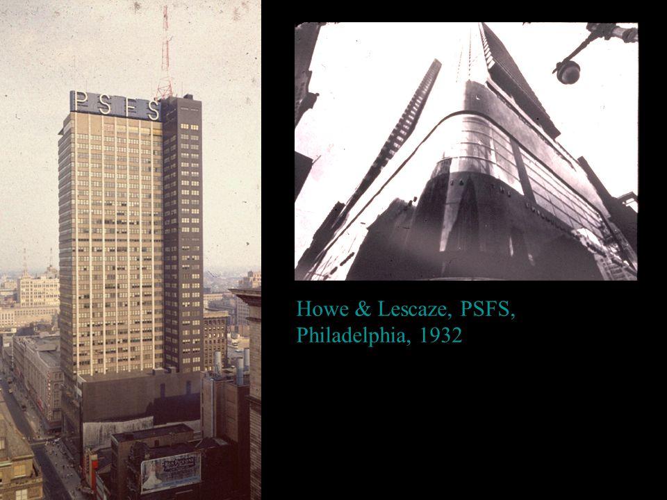 Howe & Lescaze, PSFS, Philadelphia, 1932