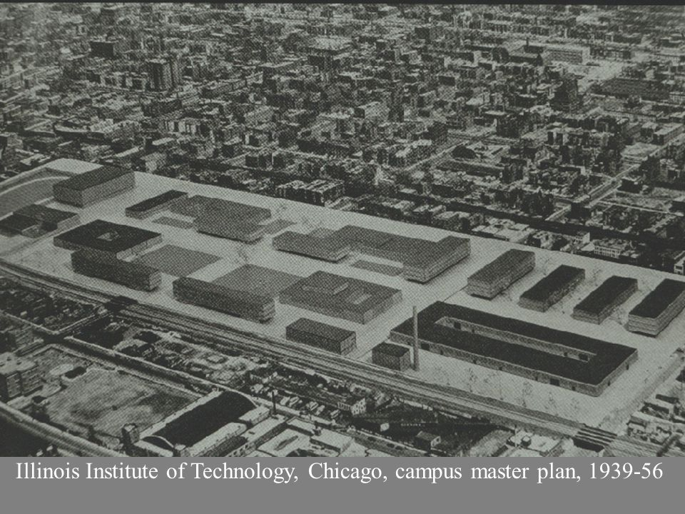 Illinois Institute of Technology, Chicago, campus master plan, 1939-56