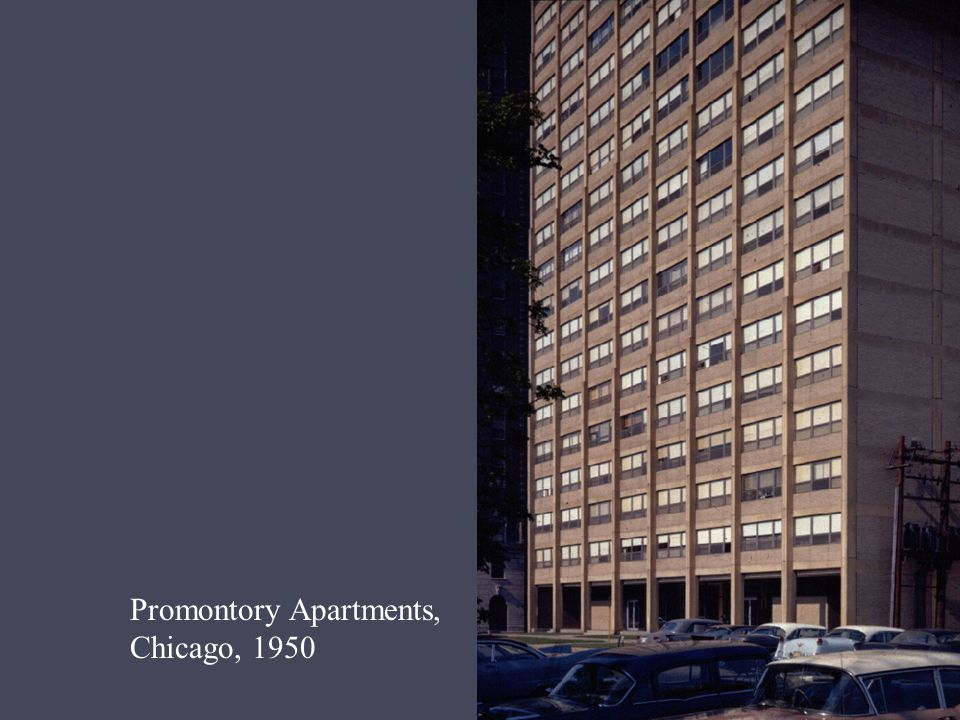 Promontory Apartments, Chicago, 1950
