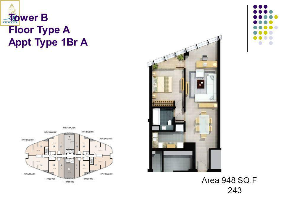 Tower B Floor Type A Appt Type 1Br A Area 948 SQ.F 243