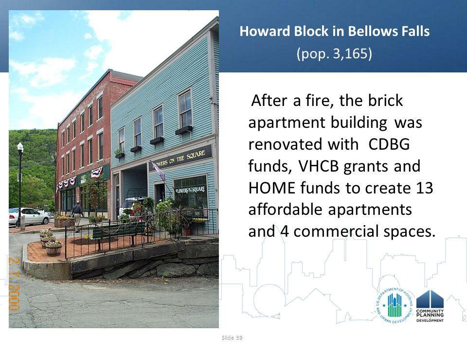 Howard Block in Bellows Falls (pop.