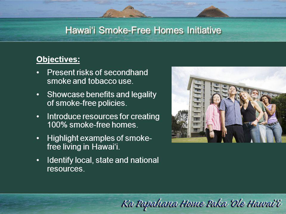 Hawaii State Attorney General: …state and federal law allows a privately-owned apartment or a privately-owned condominium to adopt a smoke-free policy for the property, including individual units and lanai… Shari Wong Deputy Attorney General State of Hawaii Approved by: Mark J.