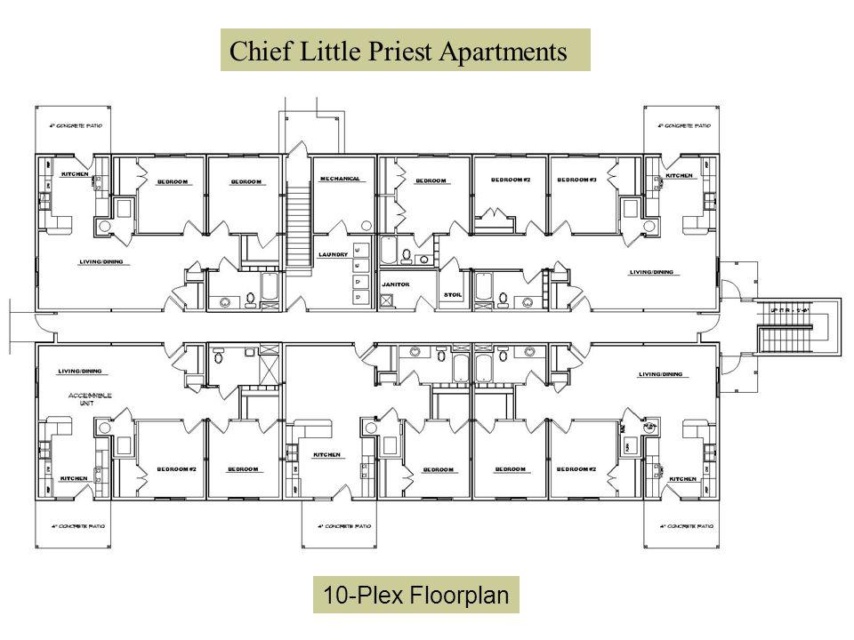 Chief Little Priest Apartments 10-Plex Floorplan Chief Little Priest Apartments