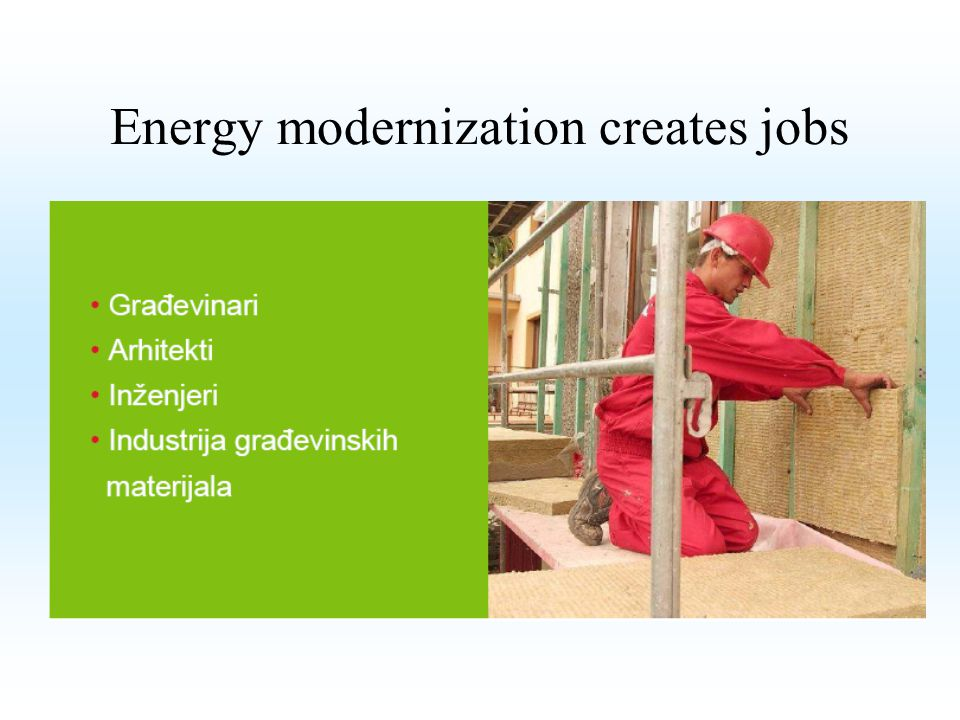 Energy modernization creates jobs