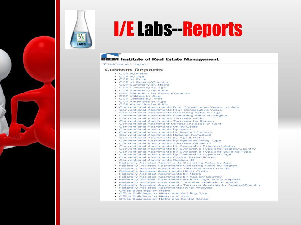 I/E Labs--Reports