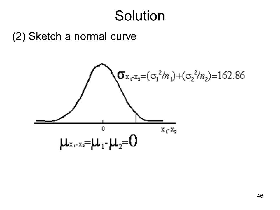 Solution (2) Sketch a normal curve 46