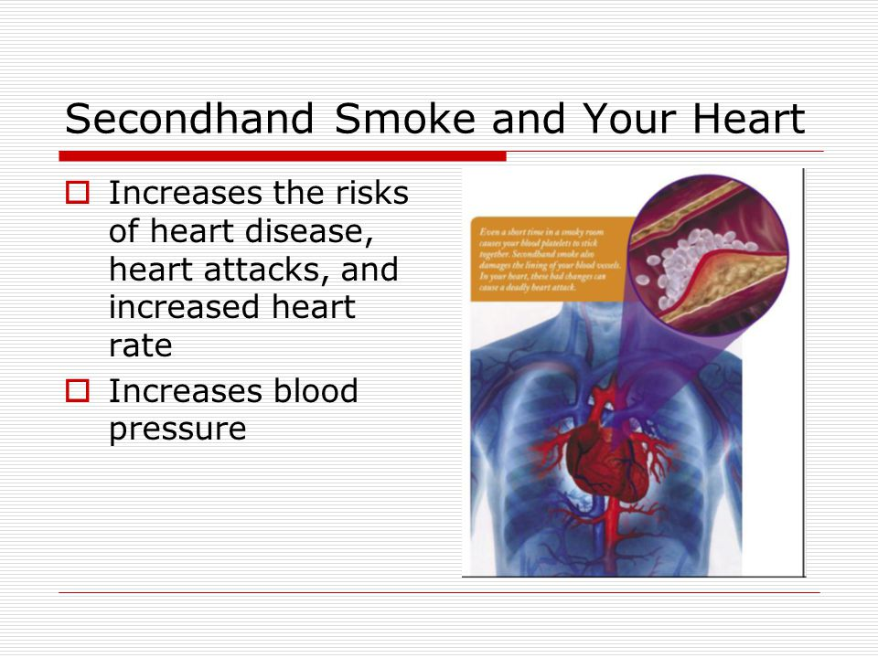 Secondhand Smoke and Your Lungs Includes many chemicals and gases that are dangerous for your lungs Causes lung cancer in adults who dont smoke