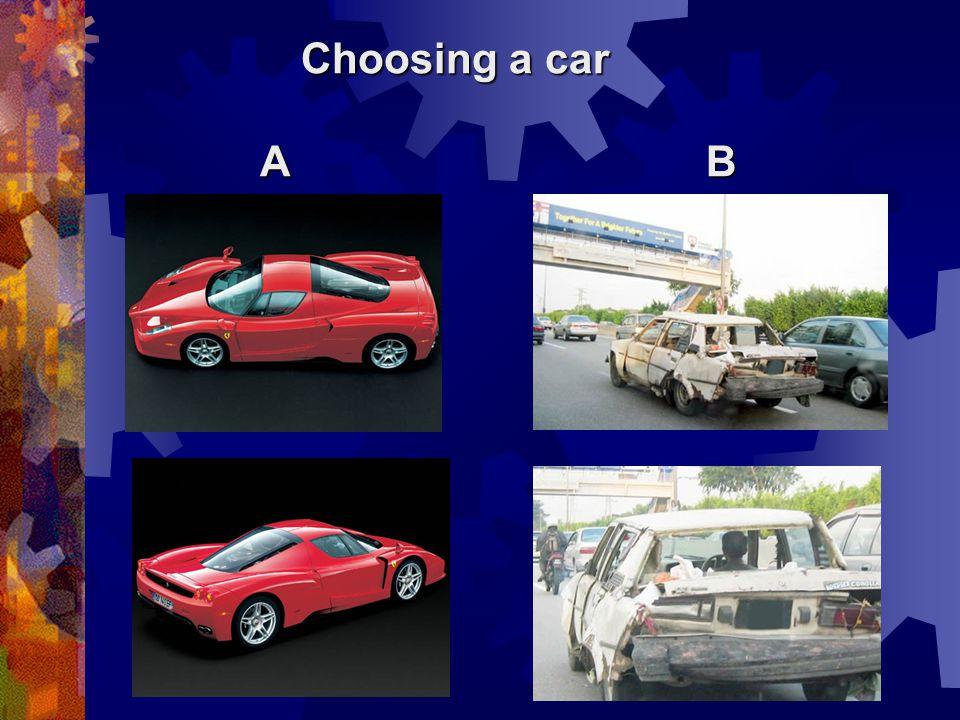 Choosing a car AB AB