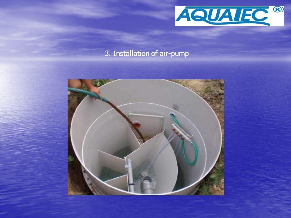3. Installation of air-pump