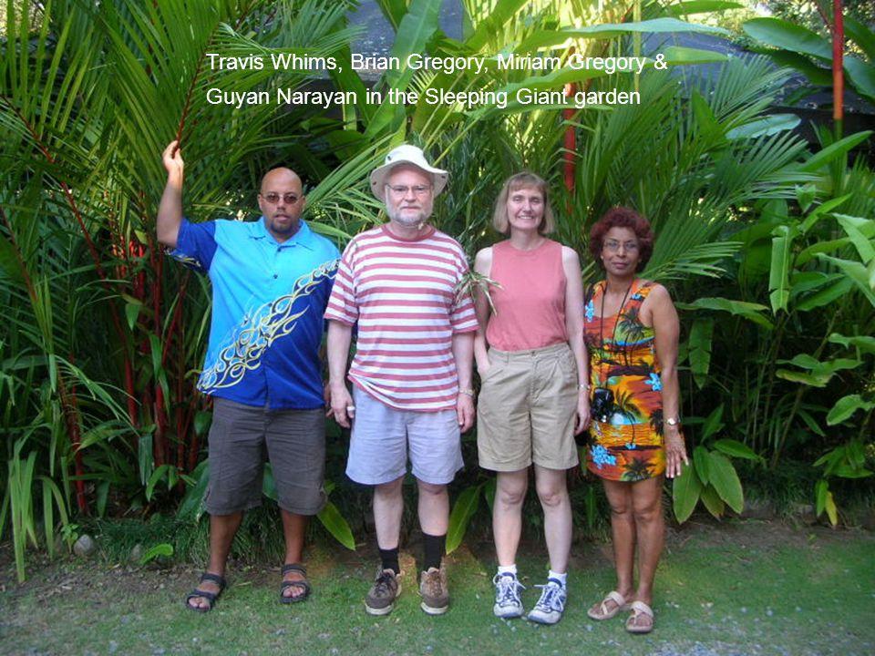 Travis Whims, Brian Gregory, Miriam Gregory & Guyan Narayan in the Sleeping Giant garden
