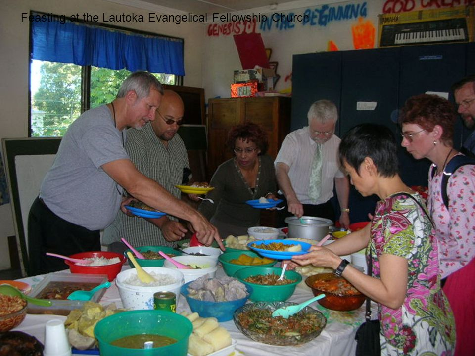 Feasting at the Lautoka Evangelical Fellowship Church