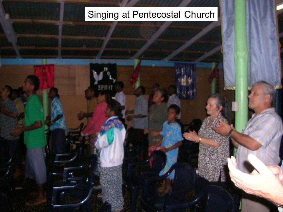 Singing at Pentecostal Church