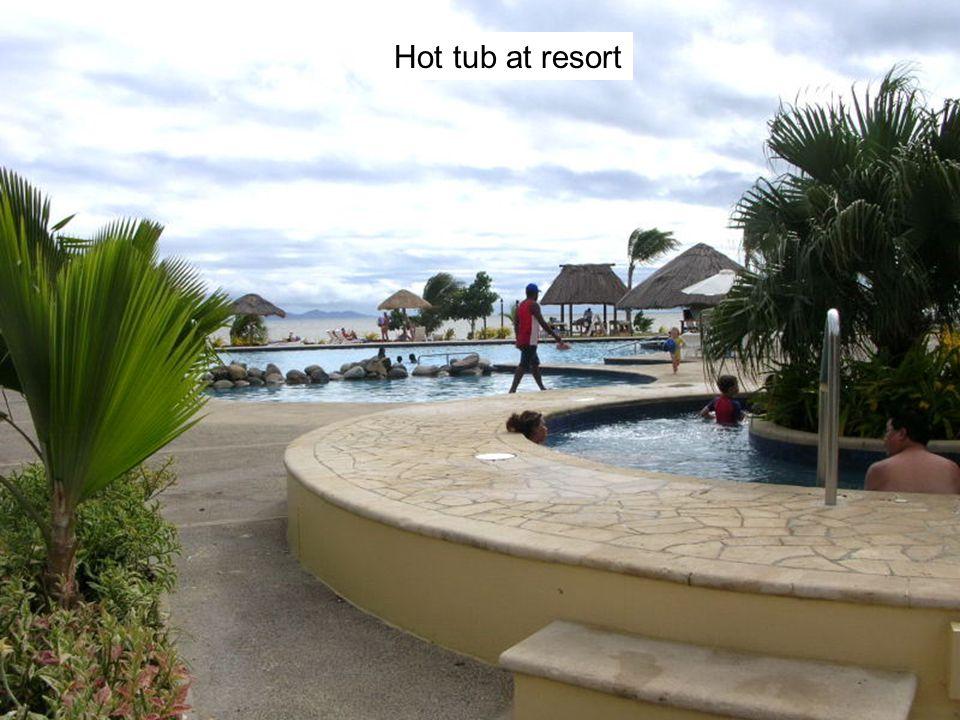 Hot tub at resort