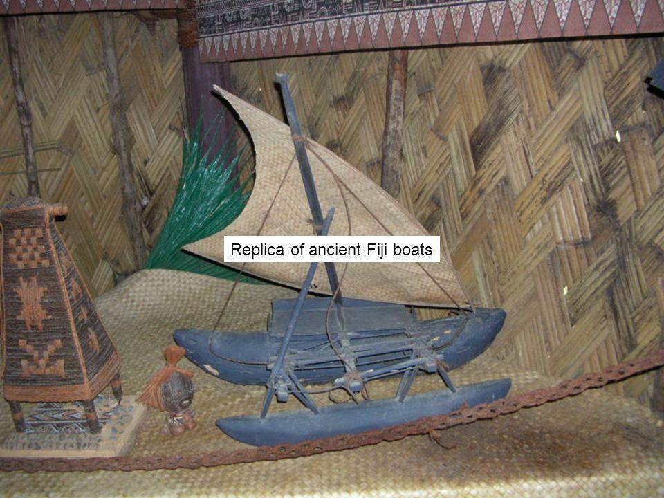 Replica of ancient Fiji boats