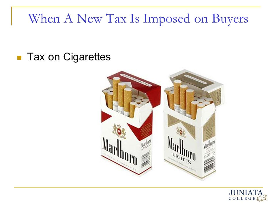 When A New Tax Is Imposed on Buyers Tax on Cigarettes
