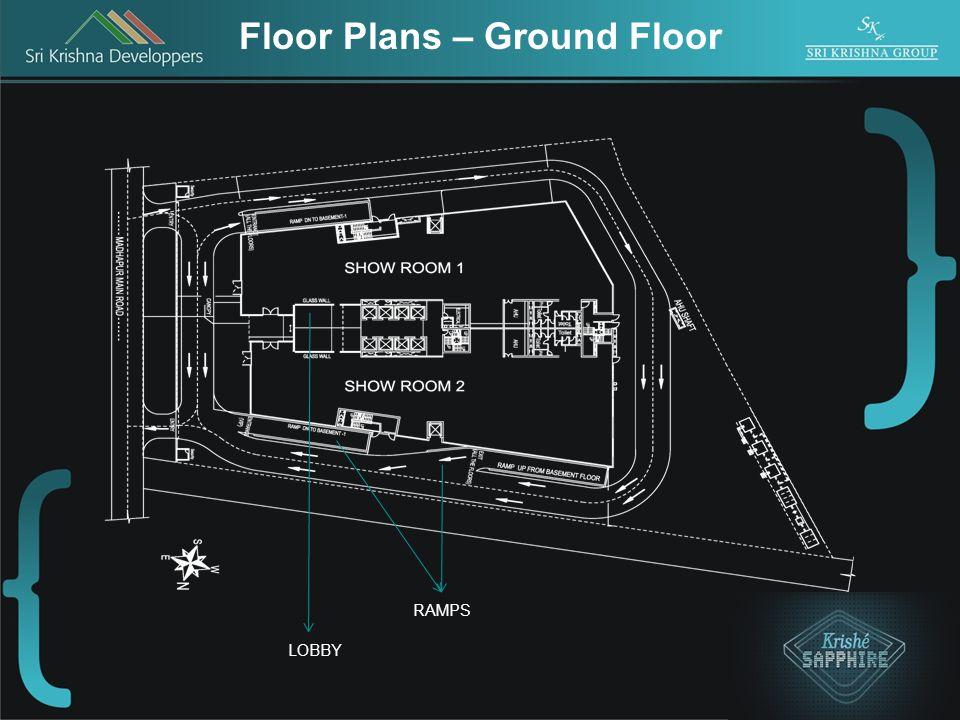 Floor Plans – Ground Floor LOBBY RAMPS