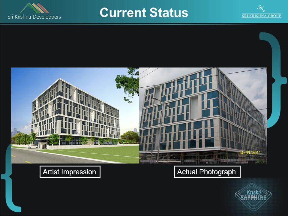 Current Status Actual PhotographArtist Impression