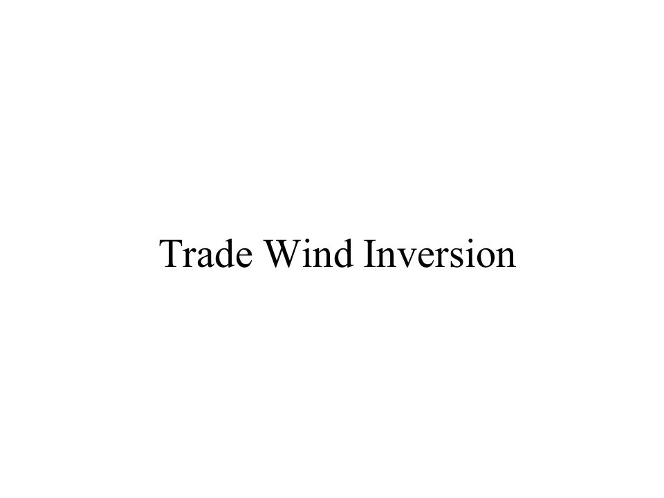 Trade Wind Inversion