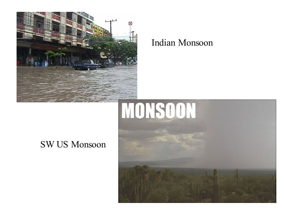 Indian Monsoon SW US Monsoon