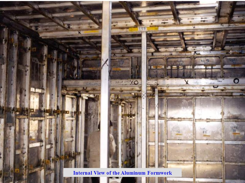 Internal View of the Aluminum Formwork