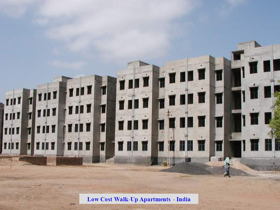 Low Cost Walk-Up Apartments - India