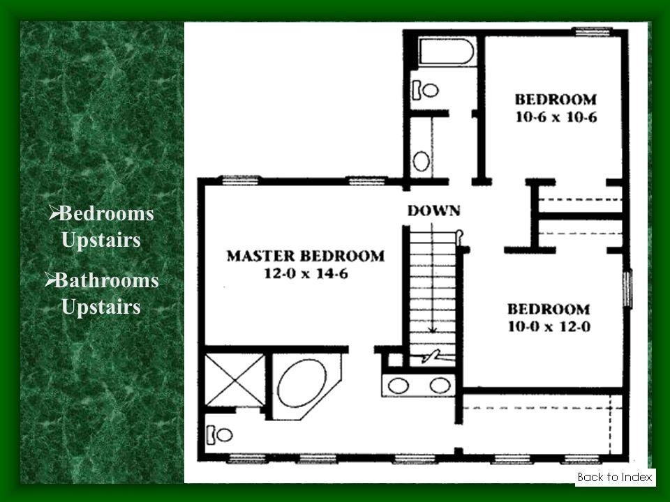 Bedrooms Upstairs Bathrooms Upstairs