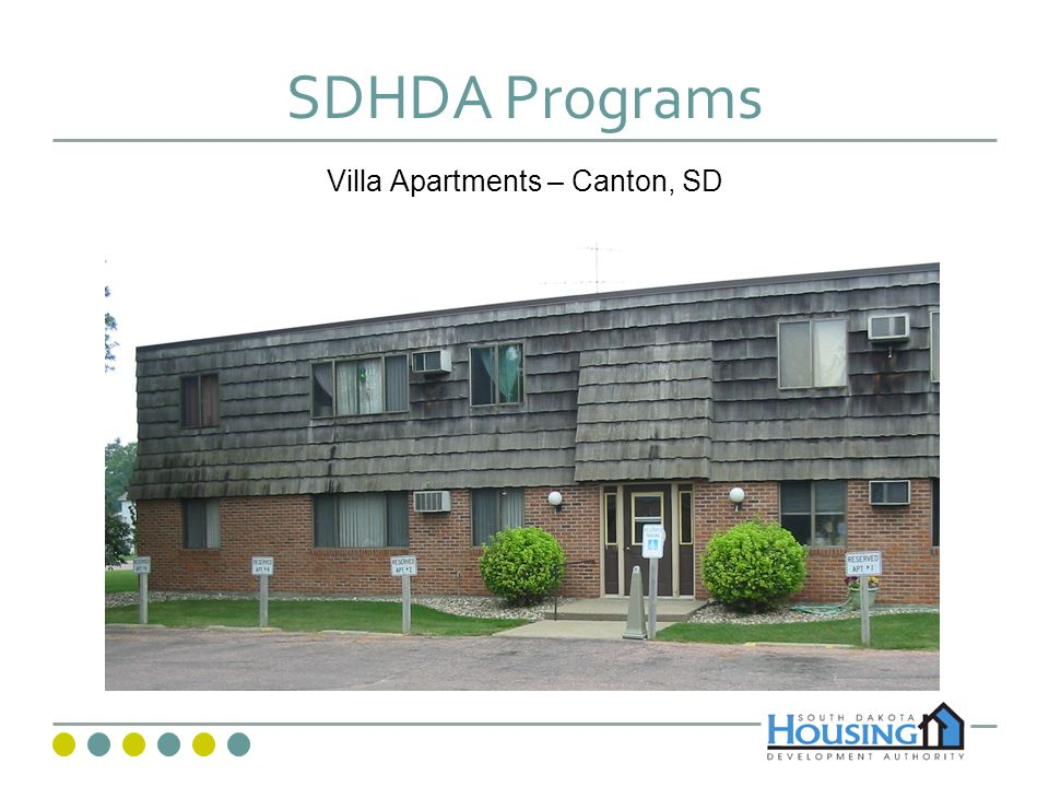 SDHDA Programs Villa Apartments – Canton, SD