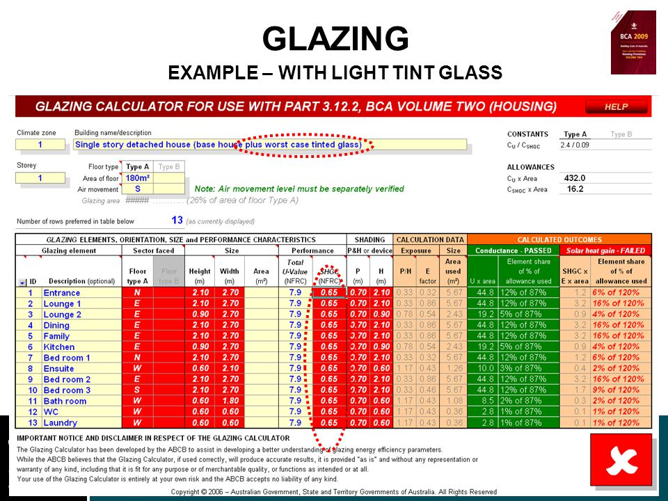www.nt.gov.au DEPARTMENT OF LANDS AND PLANNING GLAZING EXAMPLE – WITH LIGHT TINT GLASS