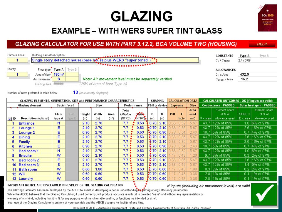 www.nt.gov.au DEPARTMENT OF LANDS AND PLANNING GLAZING EXAMPLE – WITH WERS SUPER TINT GLASS