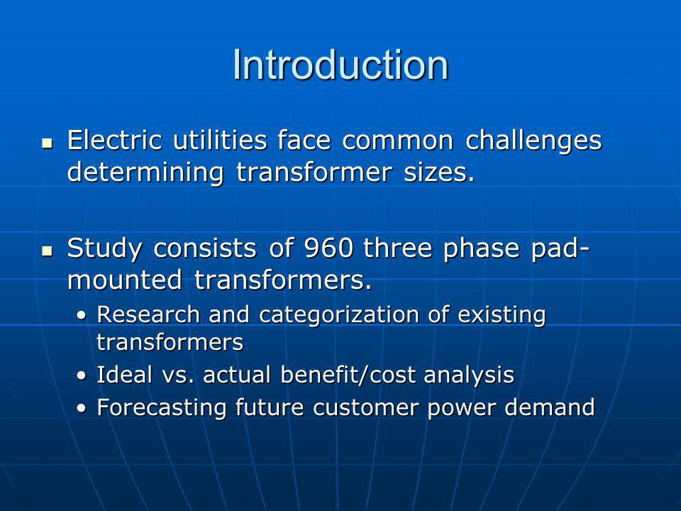 Introduction Electric utilities face common challenges determining transformer sizes. Electric utilities face common challenges determining transforme