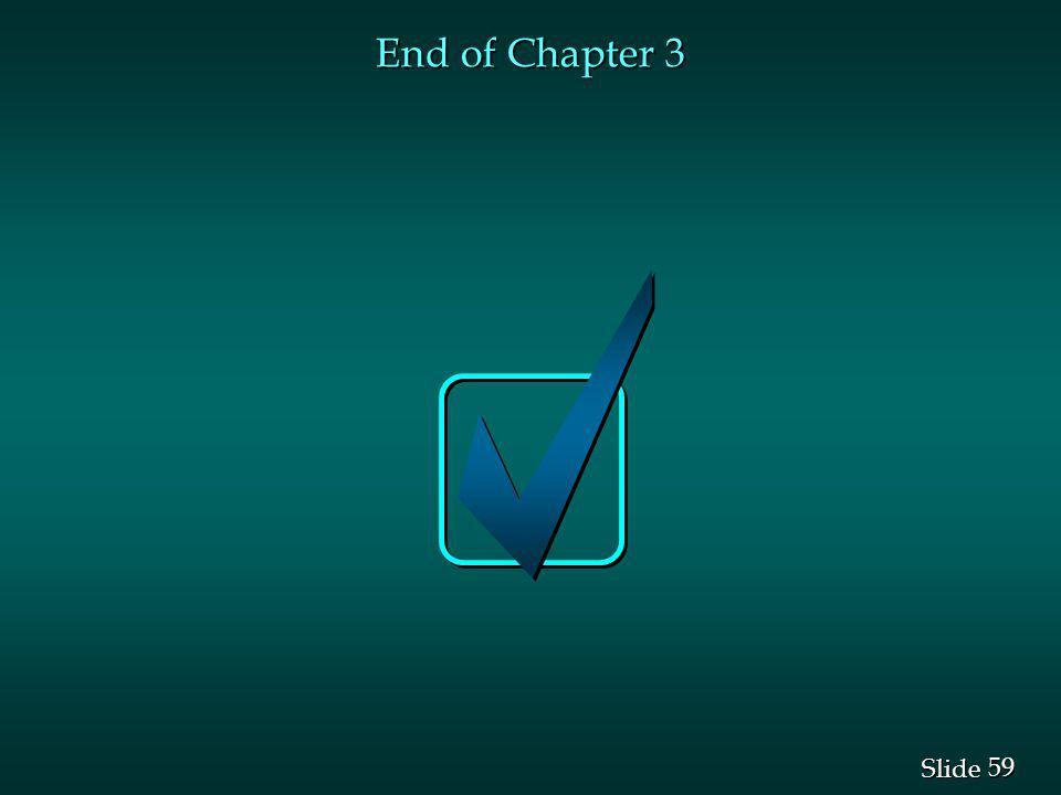 59 Slide End of Chapter 3