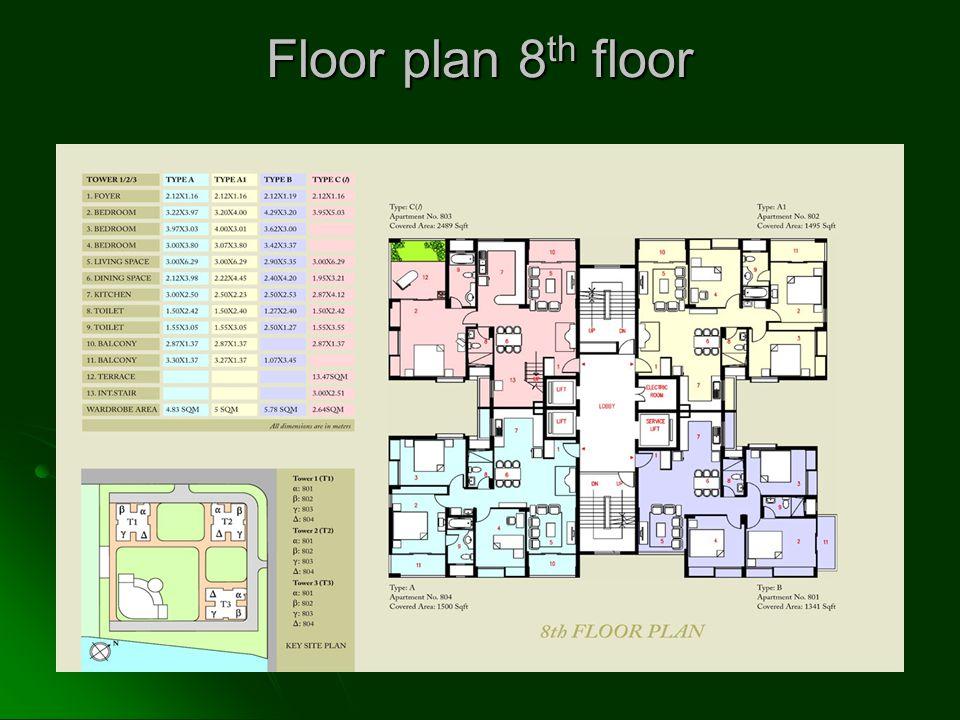 Floor plan 8 th floor