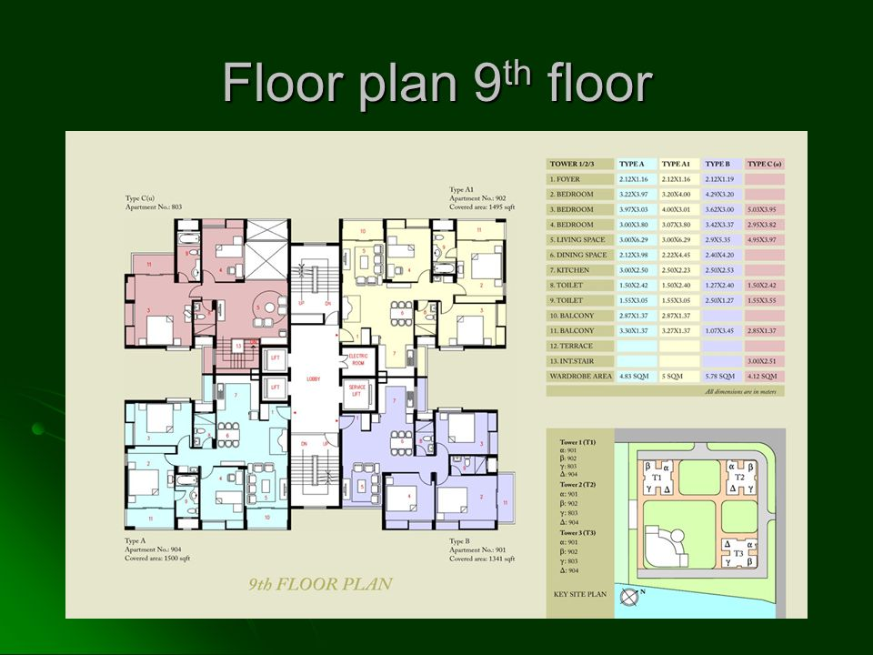 Floor plan 9 th floor