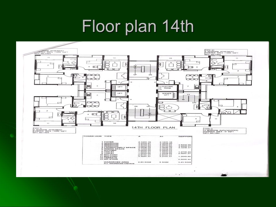 Floor plan 14th