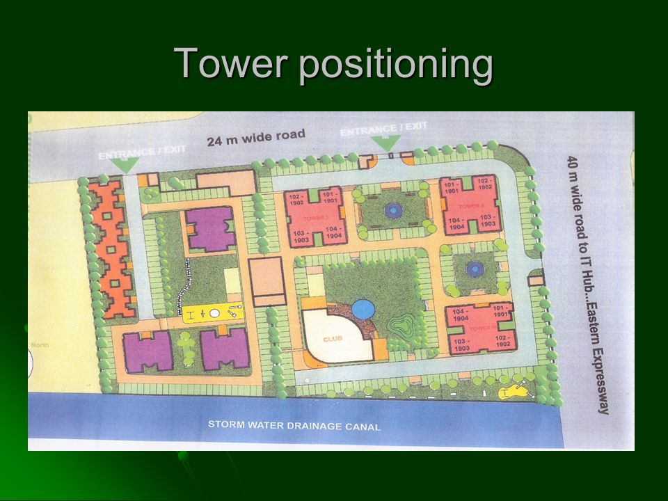 Tower positioning