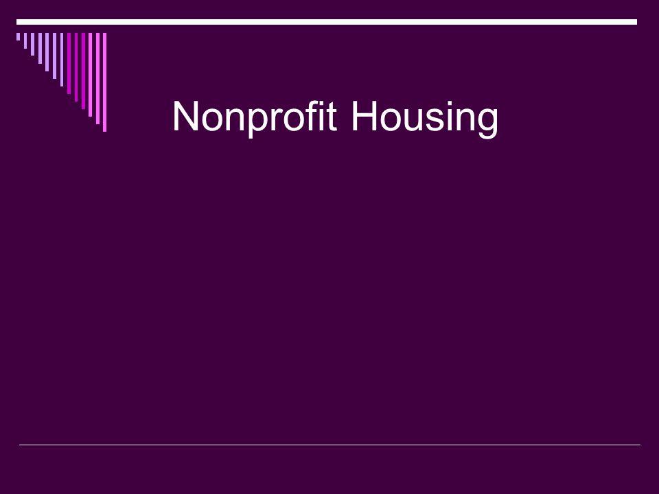 Nonprofit Housing