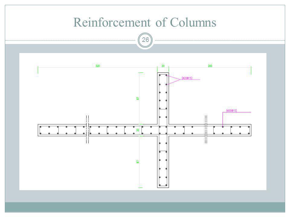 26 Reinforcement of Columns