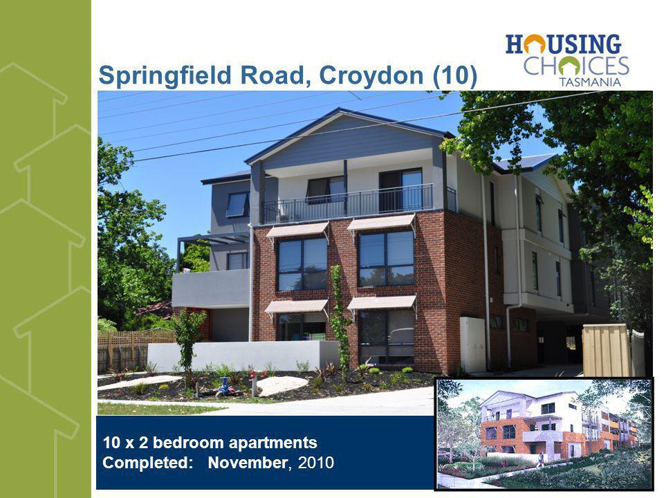 Springfield Road, Croydon (10) 10 x 2 bedroom apartments Completed: November, 2010