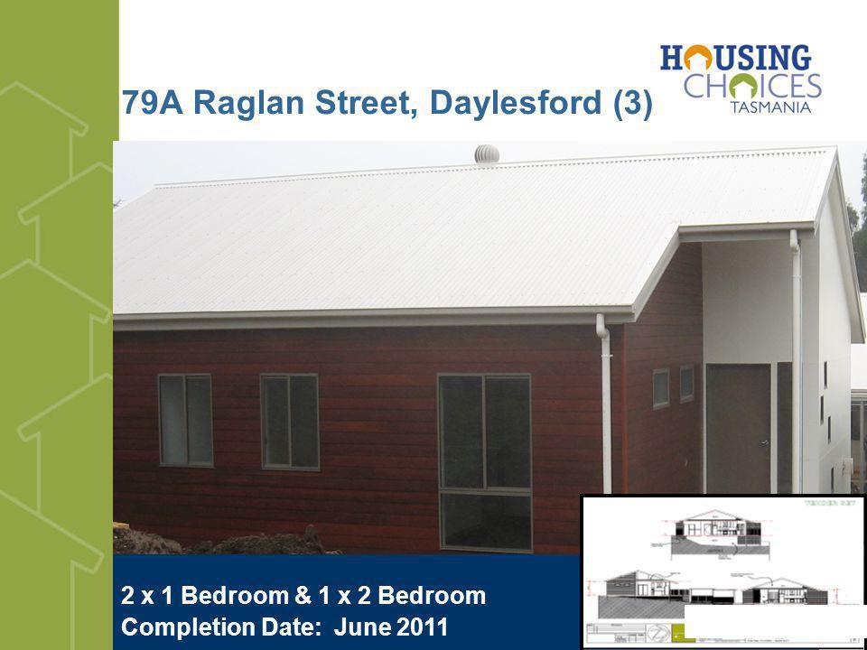 79A Raglan Street, Daylesford (3) 2 x 1 Bedroom & 1 x 2 Bedroom Completion Date: June 2011