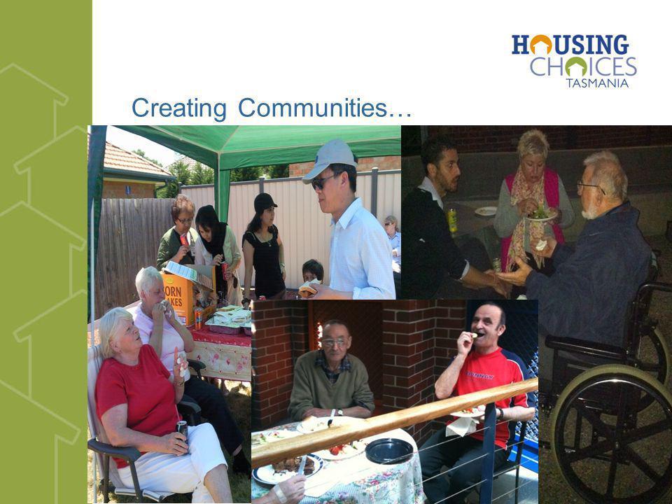 Creating Communities…