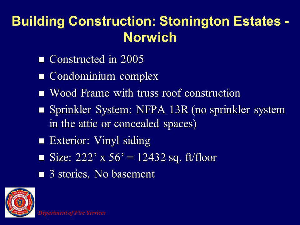 Building Construction: Stonington Estates - Norwich Constructed in 2005 Constructed in 2005 Condominium complex Condominium complex Wood Frame with tr