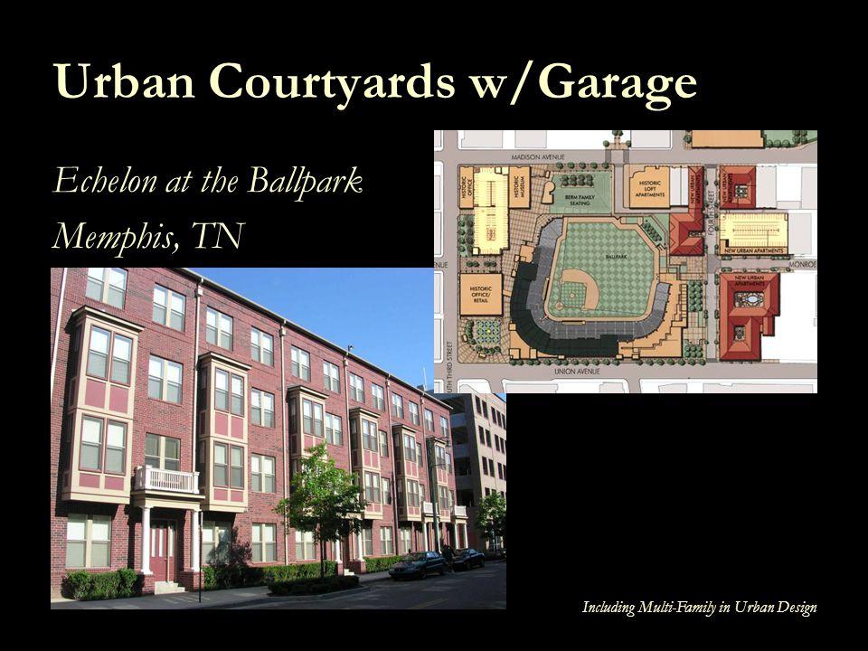 Including Multi-Family in Urban Design Urban Courtyards w/Garage Echelon at the Ballpark Memphis, TN