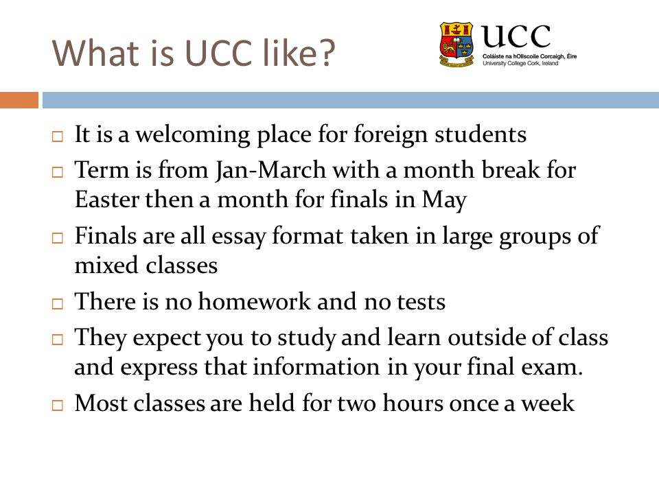What is UCC like.